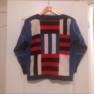Vintage wool angora blend hockey sweater